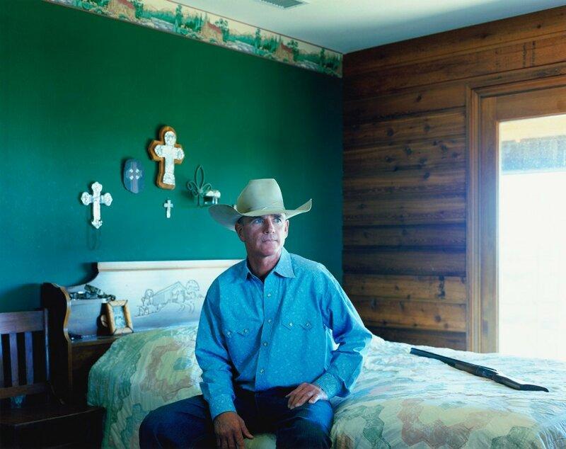 Хозяин ранчо Крис Лоуренс. Сеймур, штат Техас, 2009 год.