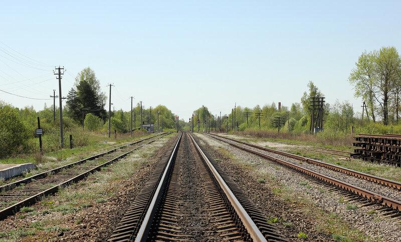 Станция Осуга, вид на Вязьму