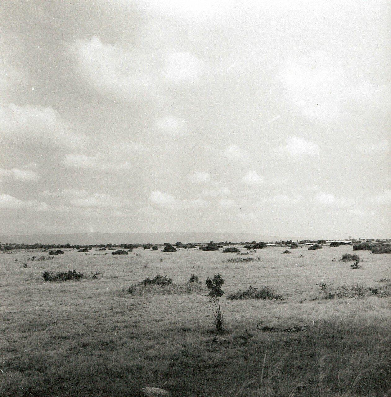 Гана. Засушливая саванна на плато Кваху