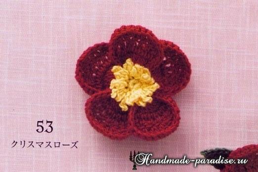 Букетики цветов. Вязаные крючком украшения (13)