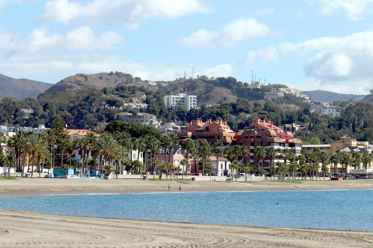 Малага. Пляж Малагета  (Playa de la Malagueta)