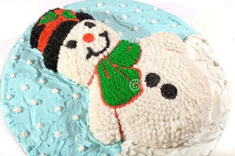 Как приготовить торт Снеговик на Новый год