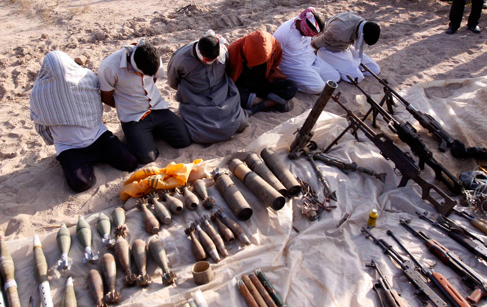 29. Иракская служба безопасности арестовала боевиков во время облавы в Басре. Их подозревают в подры