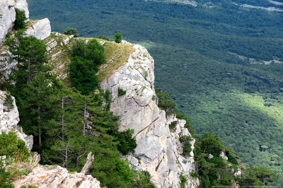 Вид со скалы Ай-Петри. Высота 1234 метра: