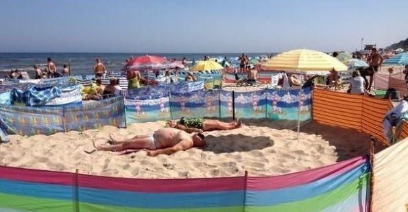 И не думайте, что если вы придете утром, то сможете занять место под солнцем, не тут-то было:)