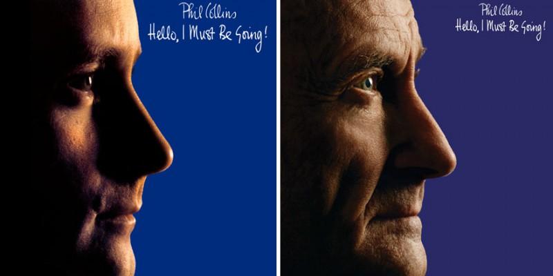 Фил Коллинз воссоздал обложки своих альбомов (6 фото)