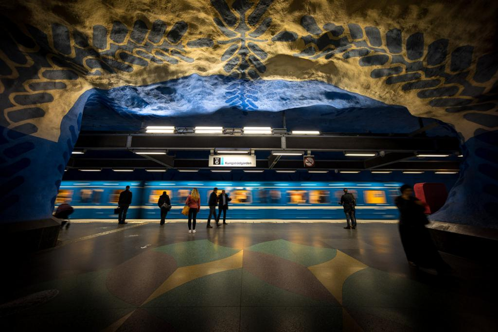 Швеция. Стокгольм. Станция Т-Централен. (Chris Chabot)