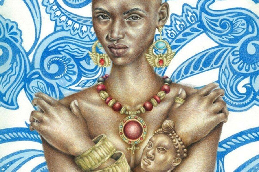 Современные рисунки древних богинь. Колдовская магия черных девочек (18+)
