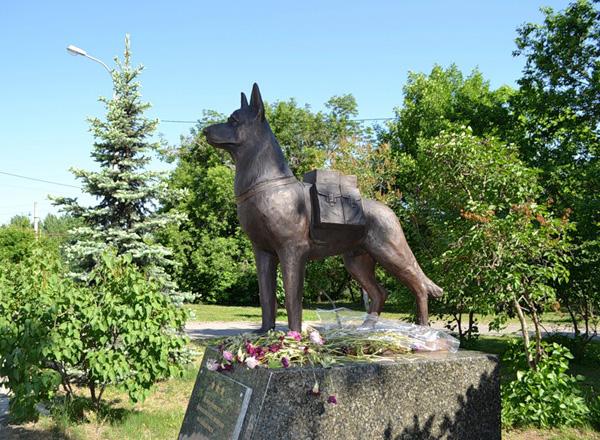 Памятник собакам истребителям танков