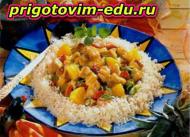 Пелло — свинина с рисом и ананасами