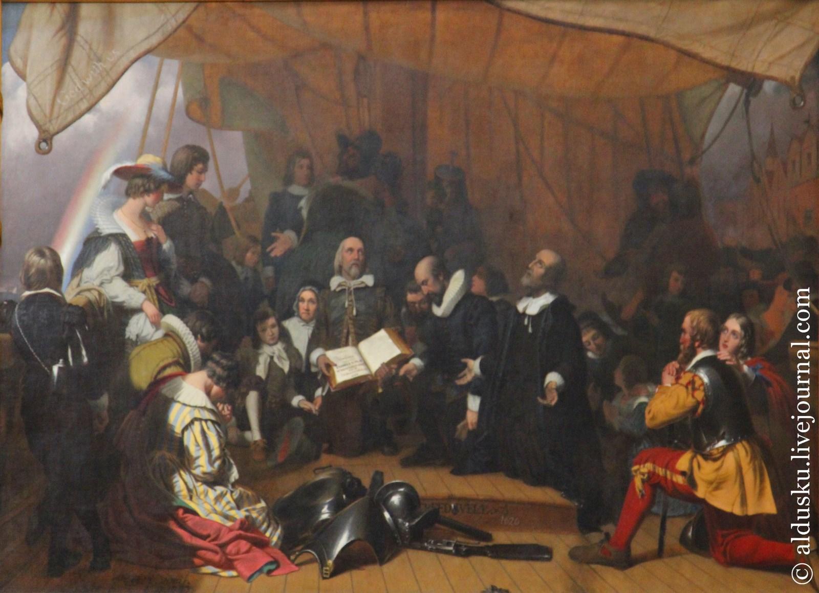 Роберт Уолтер Уир (Robert Walter Weir 1803-1889) Посадка Паломников (1837)