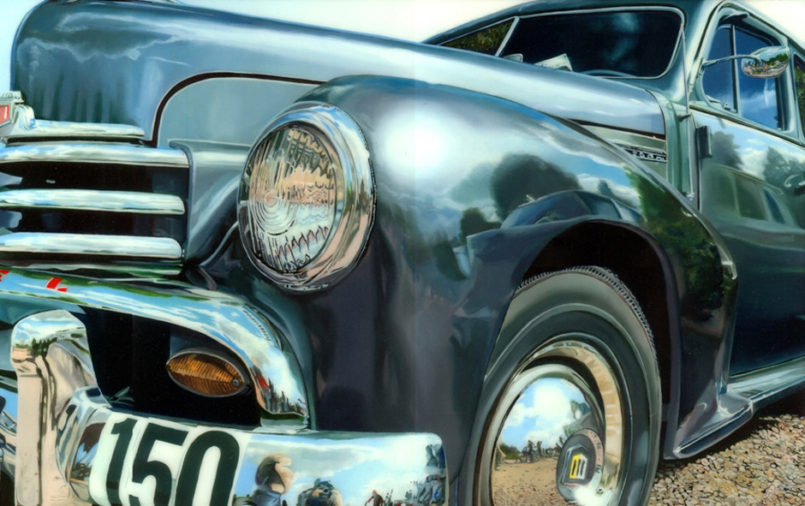 Realistic Vehicle Paintings by Andreas Maul Great photorealistic oil paintings of old school cars, t