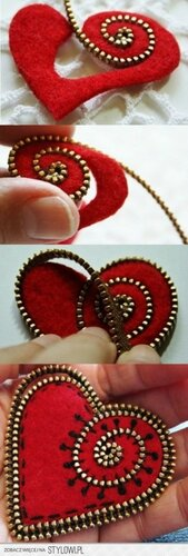 Аппликация и вышивка на фетровых валентинках