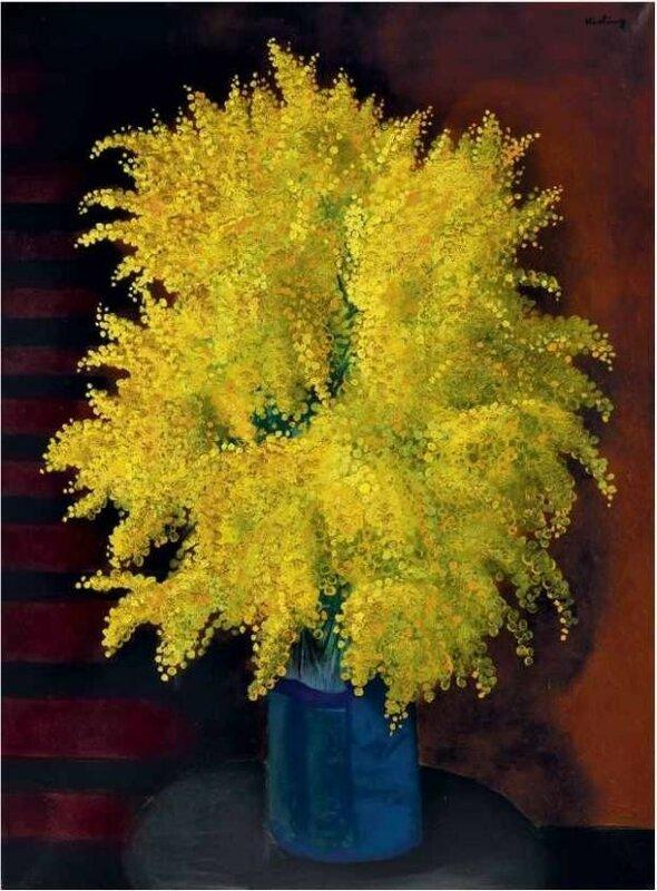 Moise Kisling bouquet of mimosa. Circa 1930.jpg