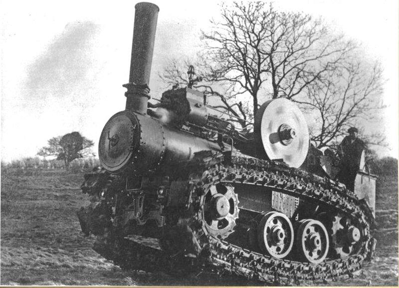 Паровой трактор Хорнсби, испытания в Англии, февраль март 1910 года.02.jpg