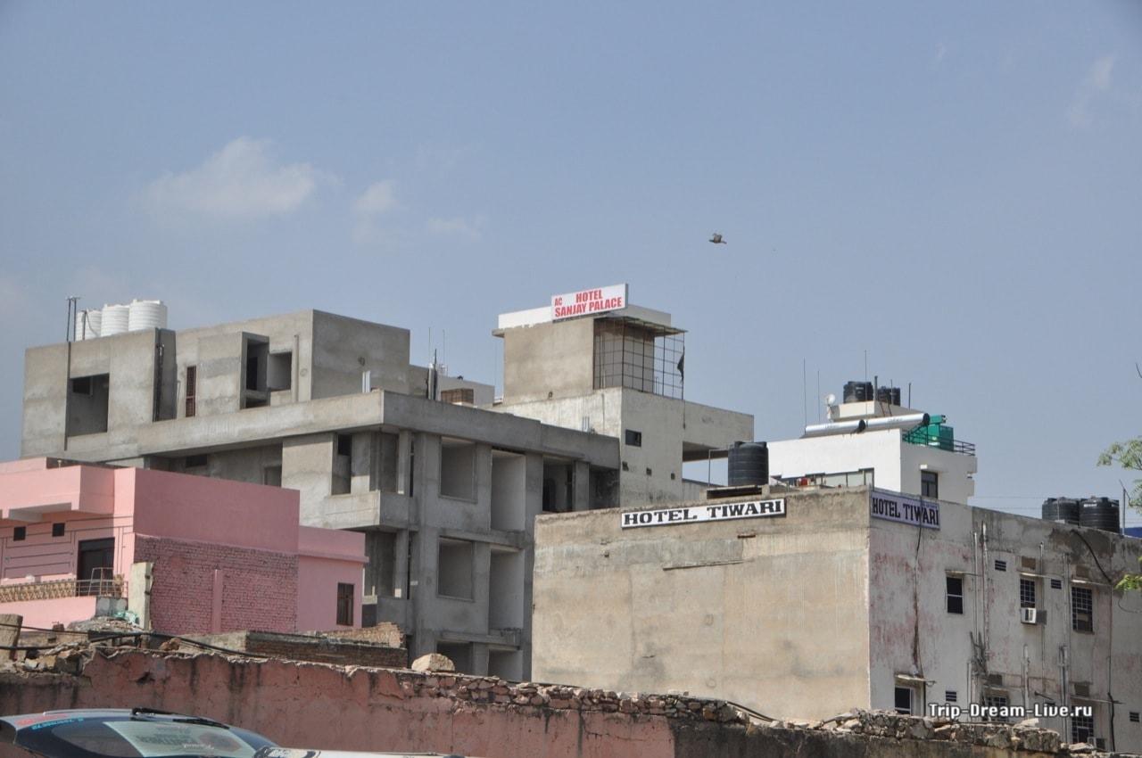 Бетонные коробки многочисленных отелей Джайпура