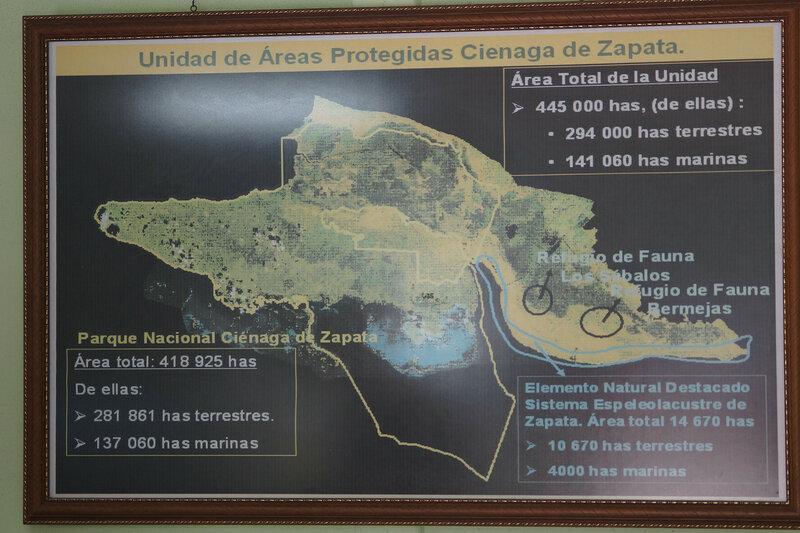 Карта заповедника Сиенага де Запата