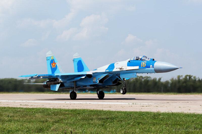 Сухой Су-27С (16 желтый) ВВС Казахстана 1570_D805601