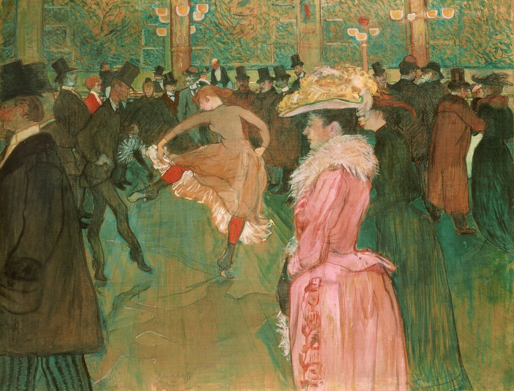 Dance at the Moulin Rouge - 1889 - 1890 - Philadelphia Museum of Art - Painting - oil on canvas.jpg