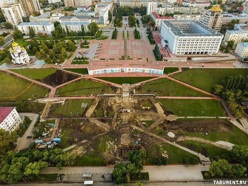 Ход реконструкции склона площади Славы в Самаре