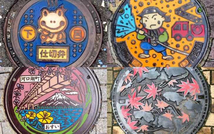 Красота под ногами: канализационные люки в Японии