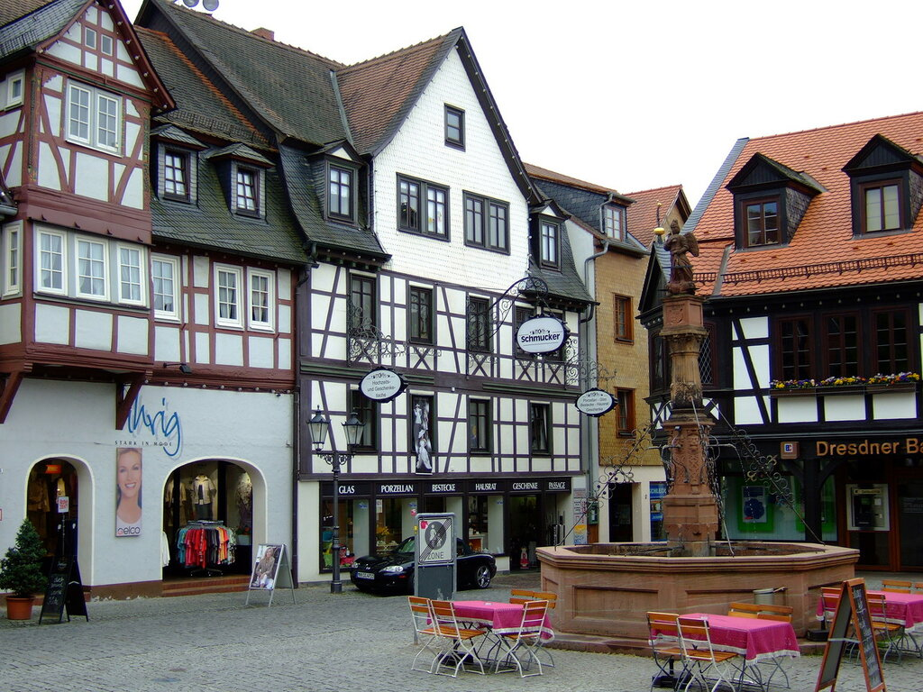 Обои улица, Гёттинген, германия, Germany, здания, Gottingen, street. Города foto 17
