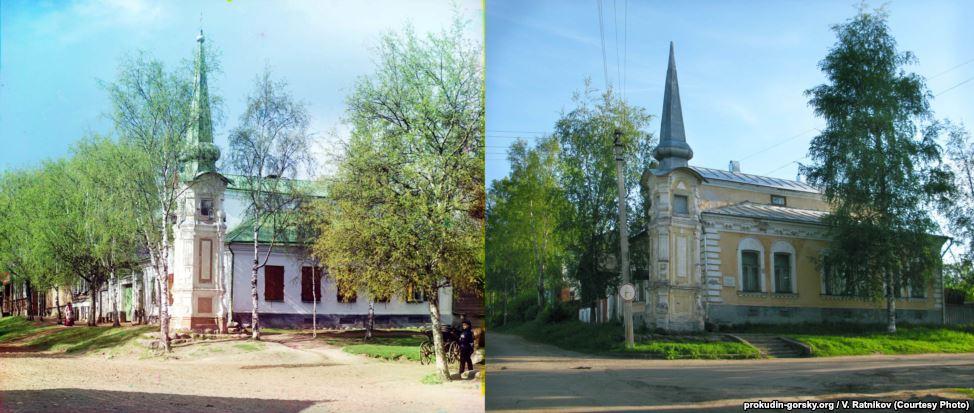 Улица в Осташкове, 1910/2010. Фото: В. Ратников.