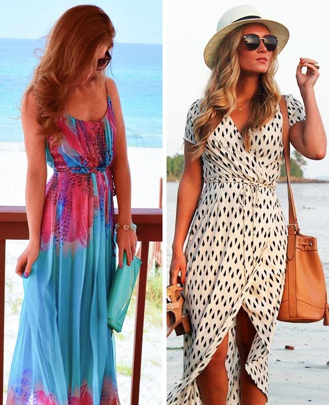 © pinterest.com  © stitchfix.com  Длинные пляжные платья— идеальные спутники для вашего