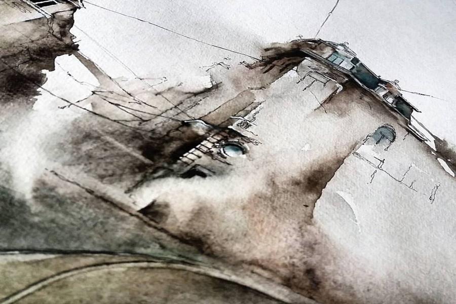 Сунга Парк: Корейская художница акварелью рисует города, которые посещает