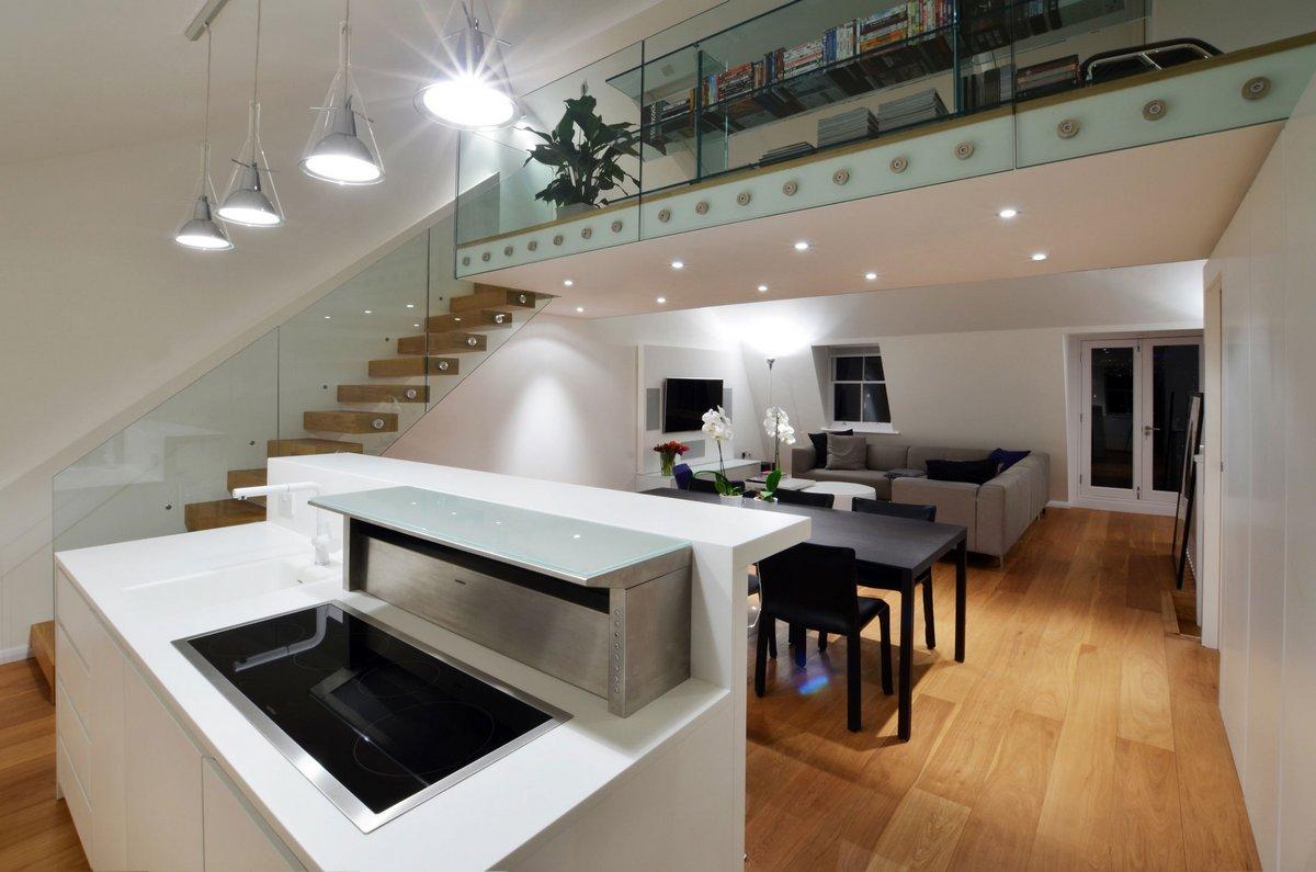 Реконструкция двухэтажной квартиры в Лондоне