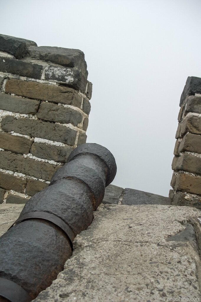 Пушка, Великая китайская стена, Мутяньюй