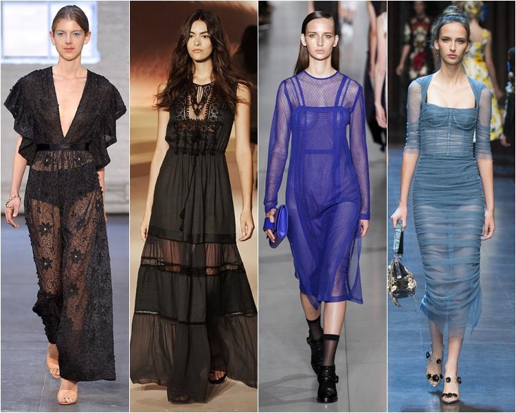 модный фасон платья 2016: платья просвечивающиеся