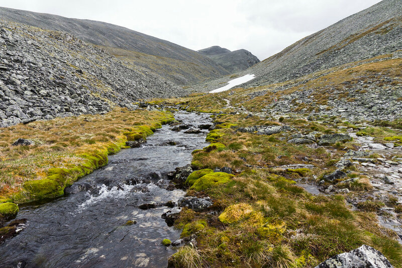 ручей на перевале Dørålsglupen в горах Rondane (Рондане)