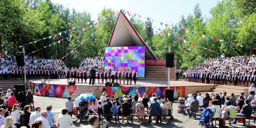 Детский хоровой праздник во Пскове
