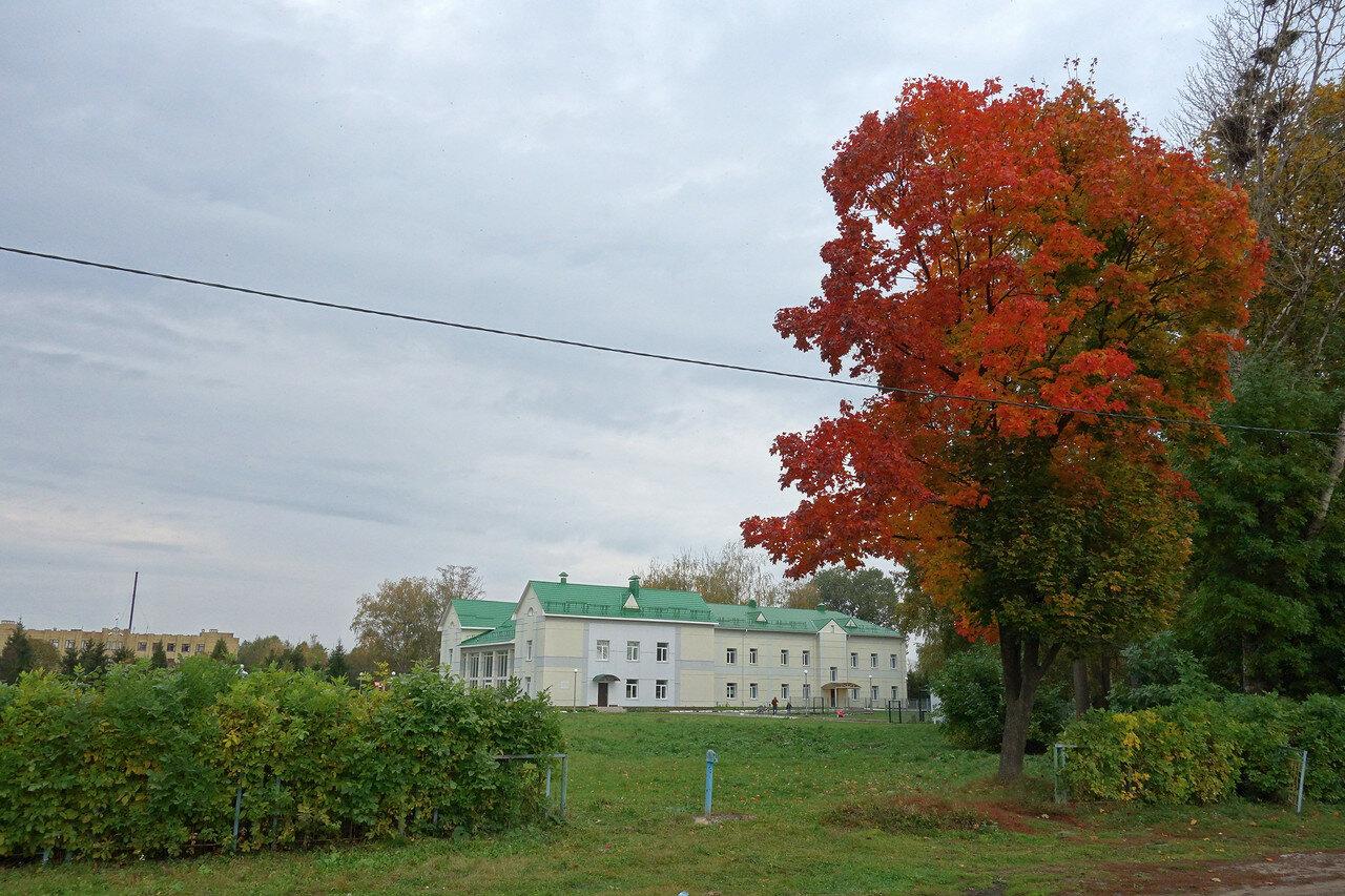 ДК и клён, село Знаменское