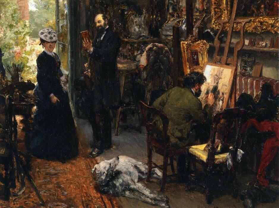 Meissonier in his Studio at Poissy.jpg