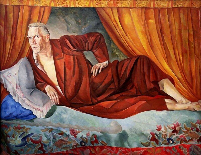 """Б.Д. Григорьев, """"Портрет Ф.И. Шаляпина"""", 1918 г."""