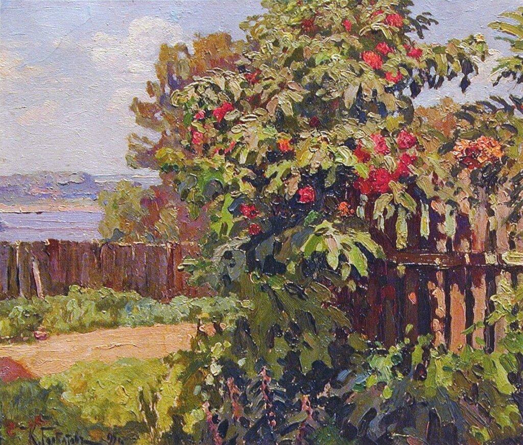 Пейзаж с изгородью. 1895Холст, маслоЧастное собрание
