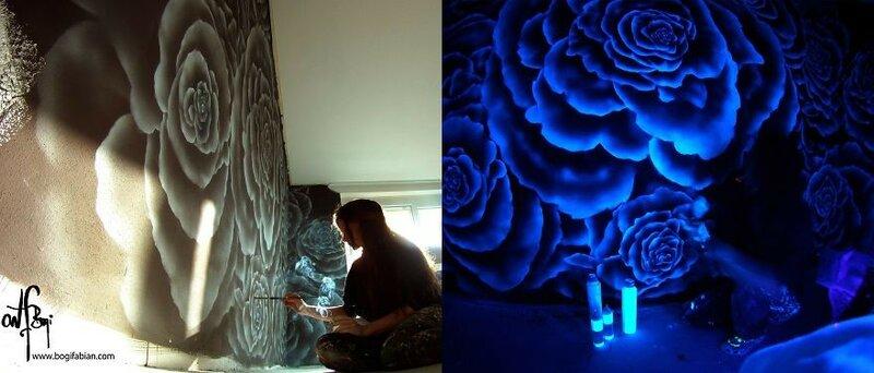 Художница Боги Фабиан превращает комнаты в космические пейзажи