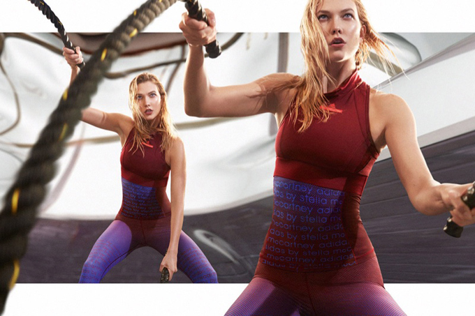 Карли Клосс в рекламе Adidas от Стеллы Маккартни (6 фото)