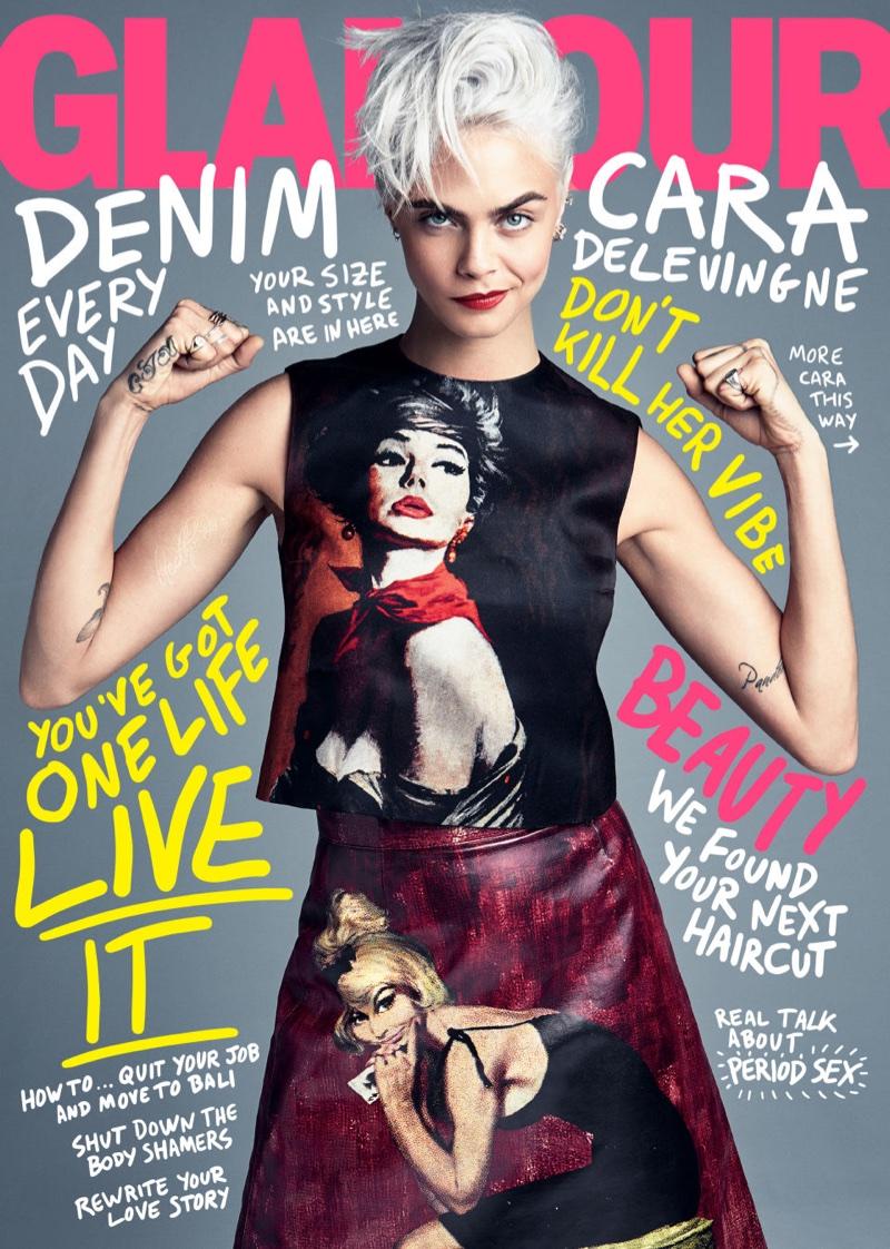 Кара Делевинь для Glamour Magazine