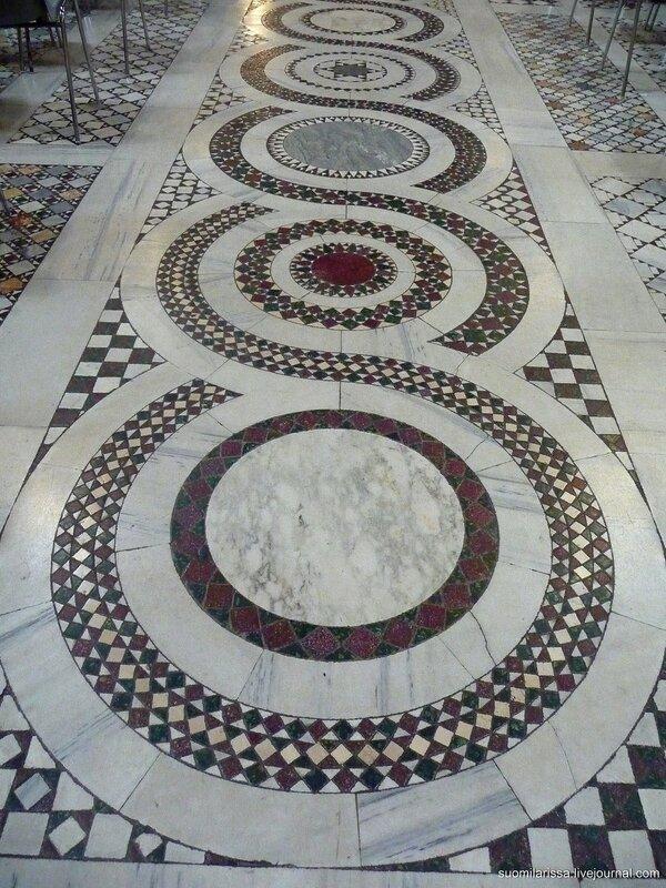 Мраморные полы римских мраморщиков Cosmati,