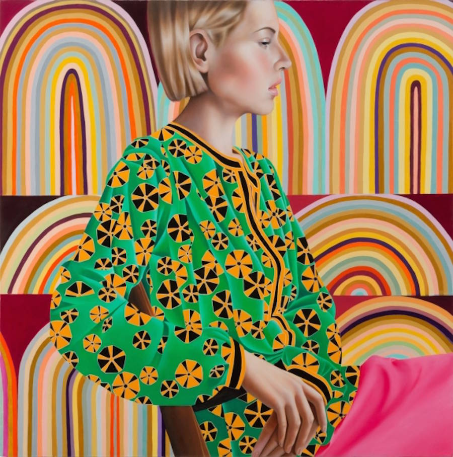 Multi-Patterned & Colorful Portraits of Women