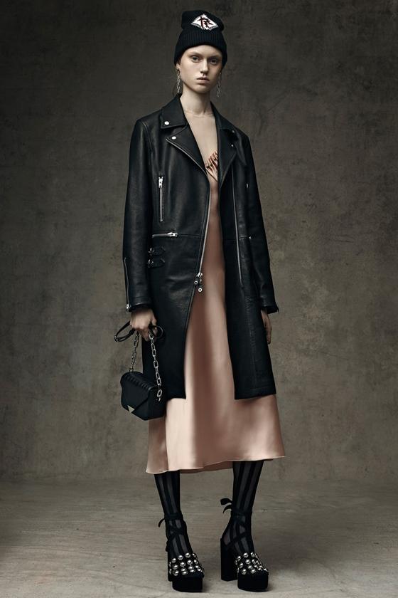 Alexander Wang кожаное пальто на молнии
