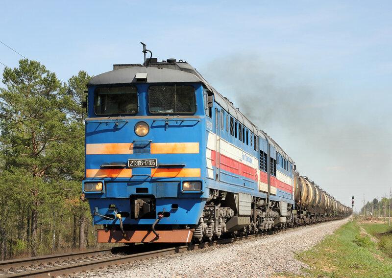 2ТЭ116-1706 БТС на перегоне Паникля - Нельдово, Рижское направление