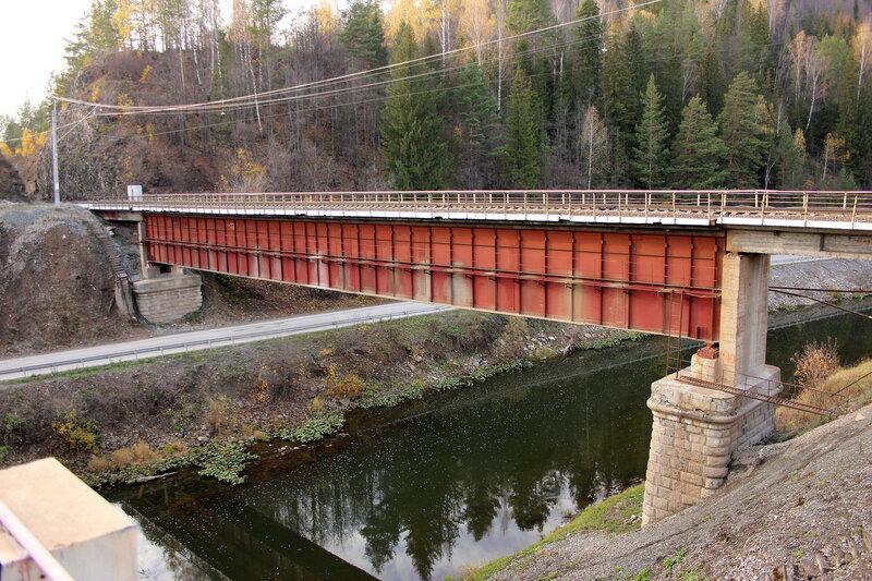 Мост через реку Сим. перегон Симская - Биянка