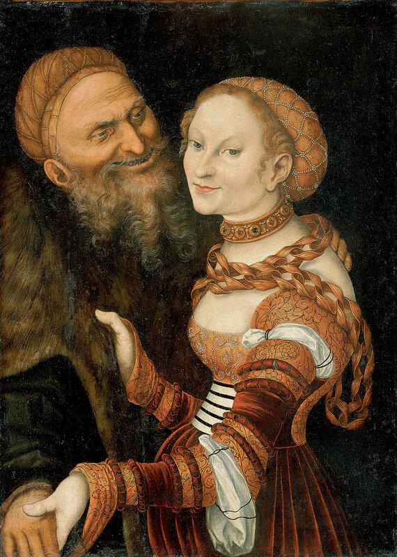 Молодая вдова и старик Ungleiches Paar Junge Witwe und Greis, um 1525-30.jpg