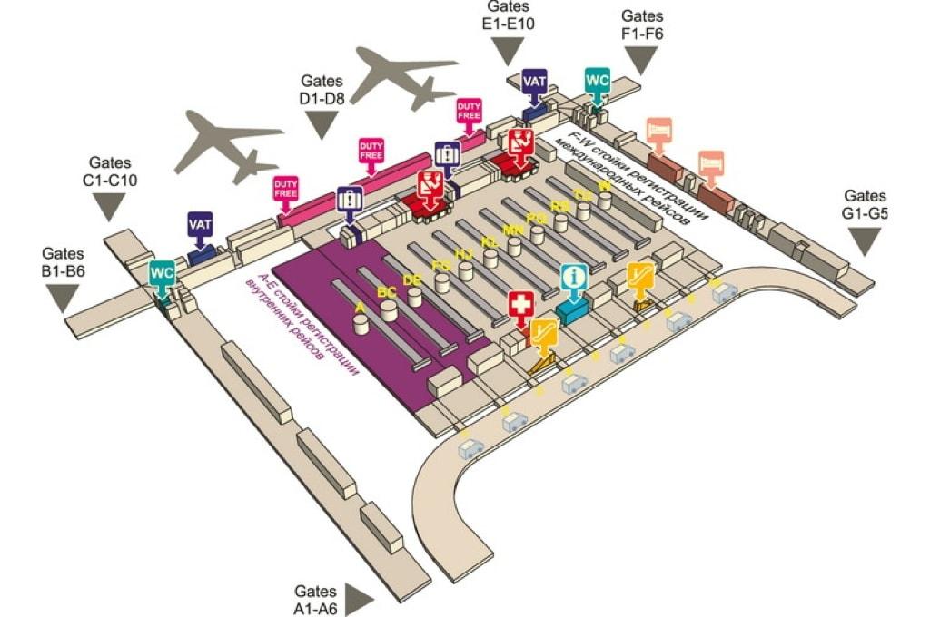 План четвертого этажа аэропорта Суварнабхуми
