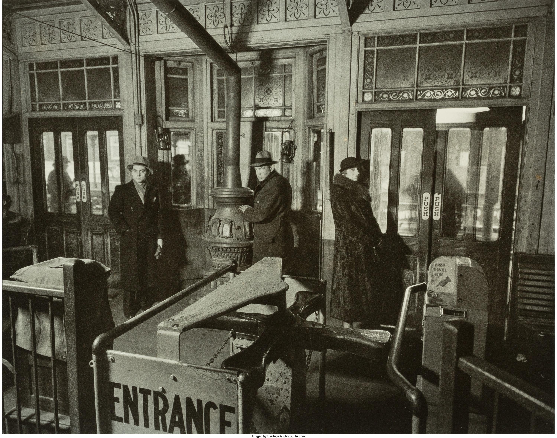 1936. Интерьер станции линий Шестой и Девятой авеню. 6 февраля