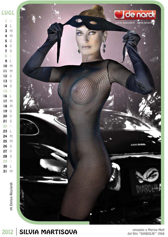 Календарь на 2012 год De Nardi - Sexy Italia 1970s - модель Silvia Martisova / использован образ актрисы Marisa Mell